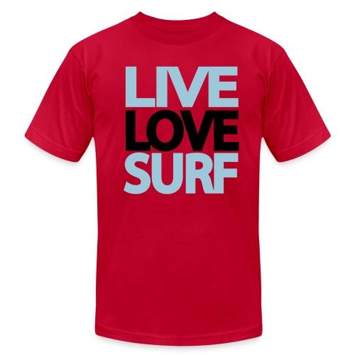 LiveLoveSurf - Men's  Jersey T-Shirt