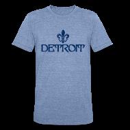 T-Shirts ~ Unisex Tri-Blend T-Shirt ~ Fleur de lis Detroit
