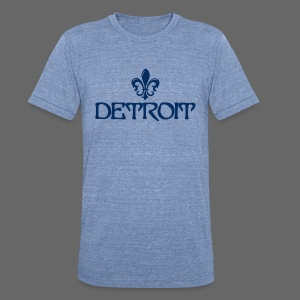 Fleur de lis Detroit - Unisex Tri-Blend T-Shirt by American Apparel