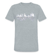 T-Shirts ~ Unisex Tri-Blend T-Shirt ~ Detroit Skyline With Roots Men's Tri-Blend Vintage T-Shirt by American Apparel