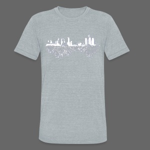 Detroit Skyline With Roots Men's Tri-Blend Vintage T-Shirt by American Apparel - Unisex Tri-Blend T-Shirt by American Apparel