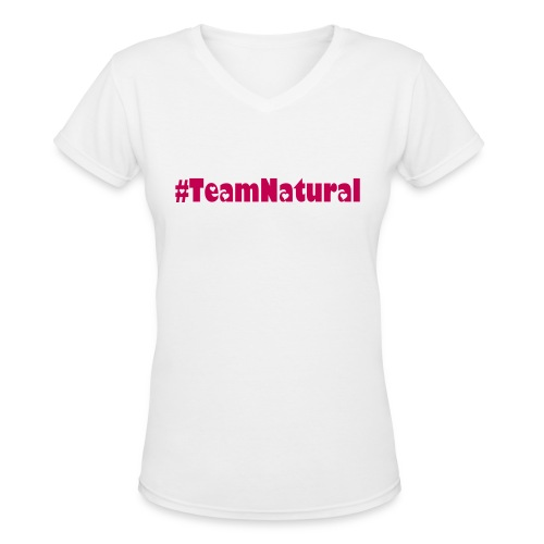#Team Natural Length Check Tee - Women's V-Neck T-Shirt