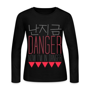 [f(x)] Danger - Women's Long Sleeve Jersey T-Shirt