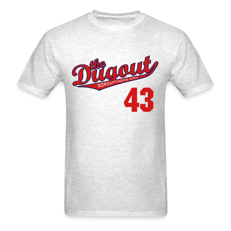 F4rnsw0rth #43 (Kyle Farnsworth) Braves Dugout T (Ash) - Men's T-Shirt