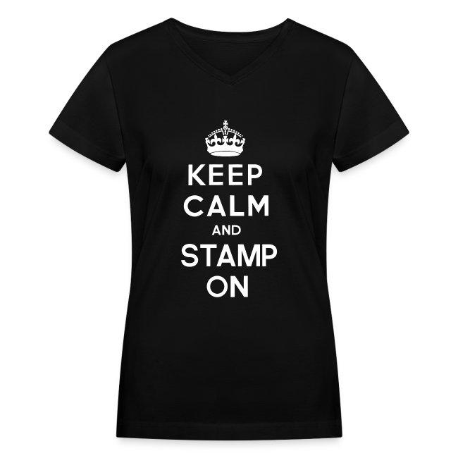 Keep Calm and Stamp on Women's Tee