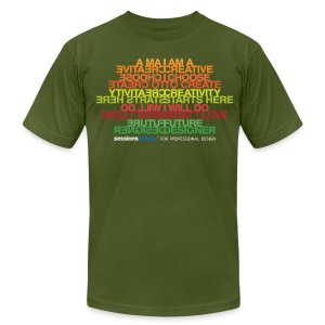 Sessions College - CREATIVITY, Men's AA Olive - Men's T-Shirt by American Apparel