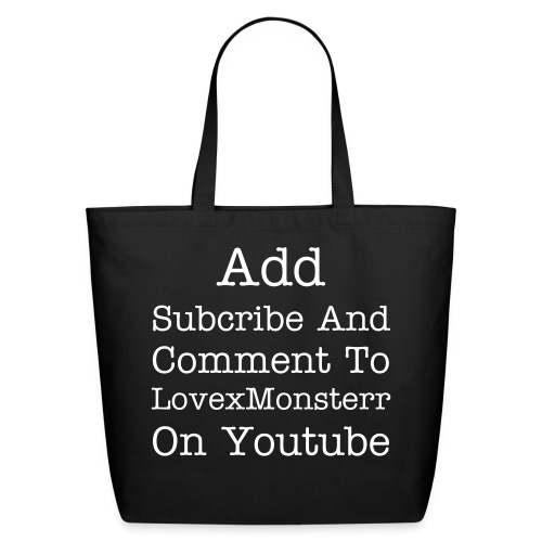 Add Subcribe And Comment - Eco-Friendly Cotton Tote