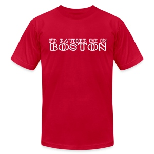 I'd Rather Be In Boston - Men's Fine Jersey T-Shirt