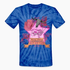 CowGirl Wild Thing never been tamed Pink 4 Leather T-Shirts