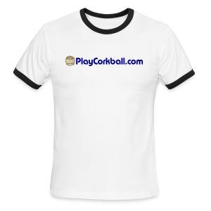 PlayCorkball.com Ringer Tee - Men's Ringer T-Shirt