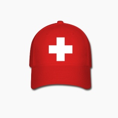 cross swiss red Caps