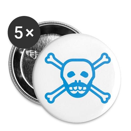 Blue Skull Beard Button - Large Buttons