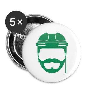 Green Hockey Beard Button - Large Buttons