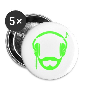 Neon Green DJ Beard Button - Large Buttons
