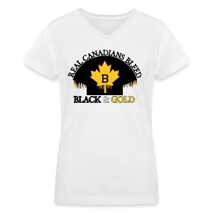 Real Canadians... - Women's V-Neck T-Shirt