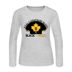 Real Canadians... - Women's Long Sleeve Jersey T-Shirt