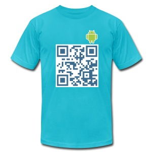 Android Hello World - Men's T-Shirt by American Apparel
