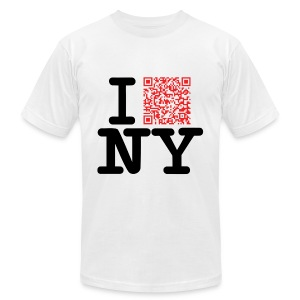 I love NY (Clean version) - Men's T-Shirt by American Apparel