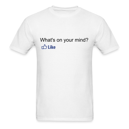 Facebook - Whats on your mind? - Men's T-Shirt