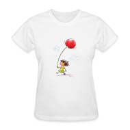 T-Shirts ~ Women's T-Shirt ~ A Cherry Tee for Charity (Balloon Cherry)