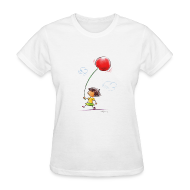 T-Shirts ~ Women's T-Shirt ~ A Cherry Tee for Charity (Balloon Cherry)