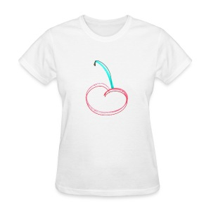 A Cherry Tee for Charity (Minimalist Cherry) - Women's T-Shirt