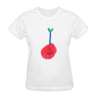 Women's T-Shirts ~ Women's T-Shirt ~ A Cherry Tee for Charity (Freaky Stem Cherry)