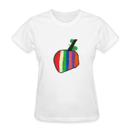 T-Shirts ~ Women's T-Shirt ~ A Cherry Tee for Charity (Rainbow Cherry)