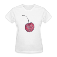 Women's T-Shirts ~ Women's T-Shirt ~ A Cherry Tee for Charity (Checkerboard Cherry)