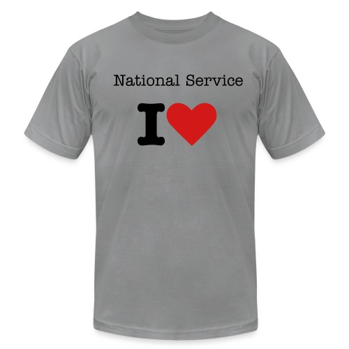 I Love National Service - Men's - Men's Fine Jersey T-Shirt