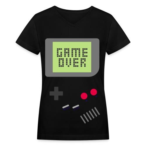 [MISC] Gameboy Game Over - Women's V-Neck T-Shirt