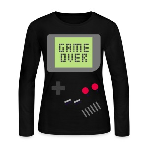[MISC] Gameboy Game Over - Women's Long Sleeve Jersey T-Shirt