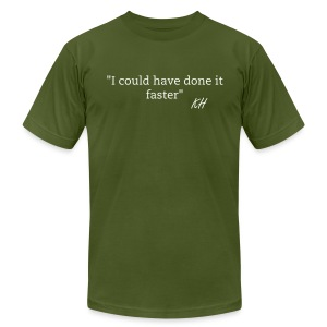 Faster - Men's T-Shirt by American Apparel