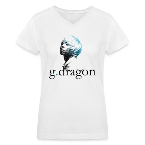 Big Bang - GD Typo - Women's V-Neck T-Shirt