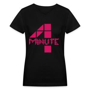 4Minute - Logo - Women's V-Neck T-Shirt