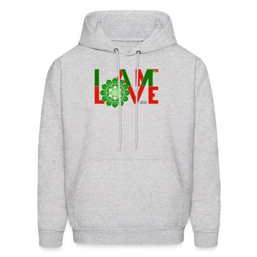 I Am Love - 2-line (Men's - hoodie) - Men's Hoodie