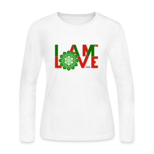 I Am Love - 2-line (Women's - long-sleeve jersey shirt) - Women's Long Sleeve Jersey T-Shirt