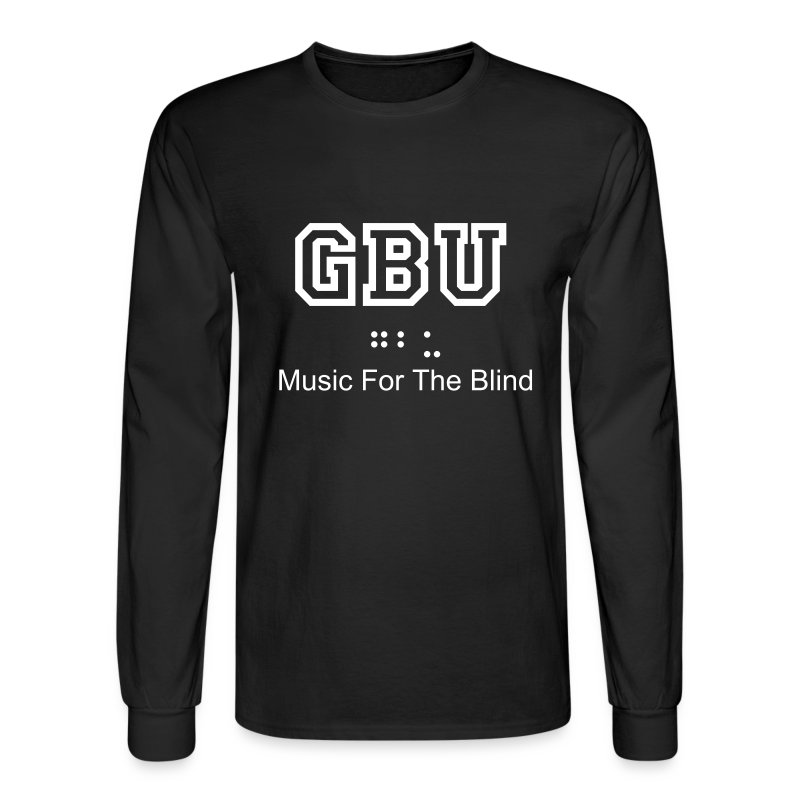 Long Sleeve Music For The Blind - Men's Long Sleeve T-Shirt