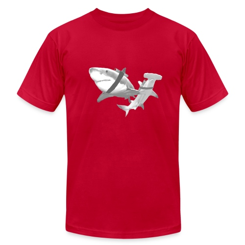 Sharks with Lasers - Men's  Jersey T-Shirt