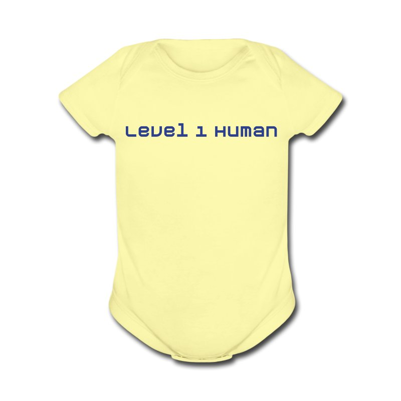 Level 1 Human - Short Sleeve Baby Bodysuit