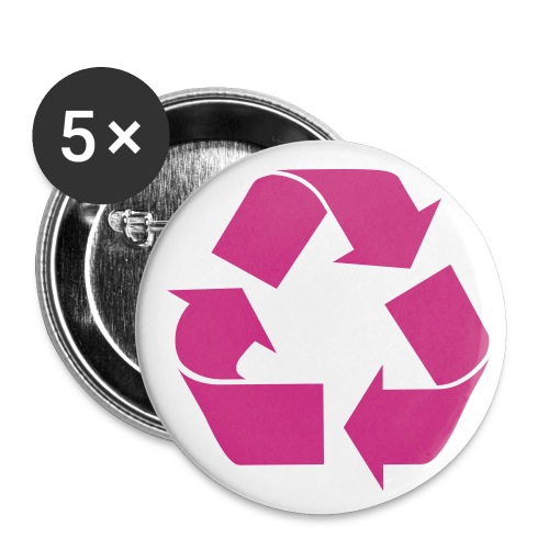 Recycle Buttons - Buttons small 1'' (5-pack)