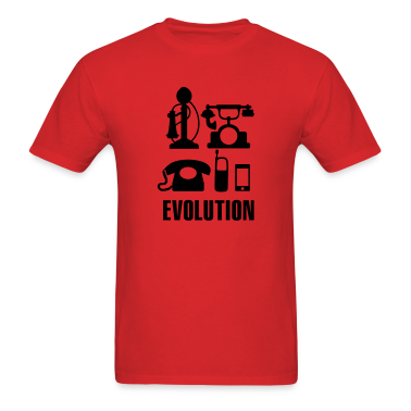 Evolution telephone T-Shirts