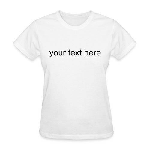 Blank Text Womens T-Shirt Dress - Women's T-Shirt