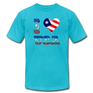 I Love USA - Men's T-Shirt by American Apparel
