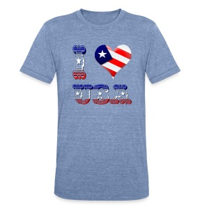I Love USA - Unisex Tri-Blend T-Shirt by American Apparel