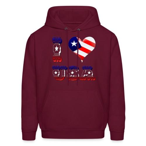 I Love USA - Men's Hoodie