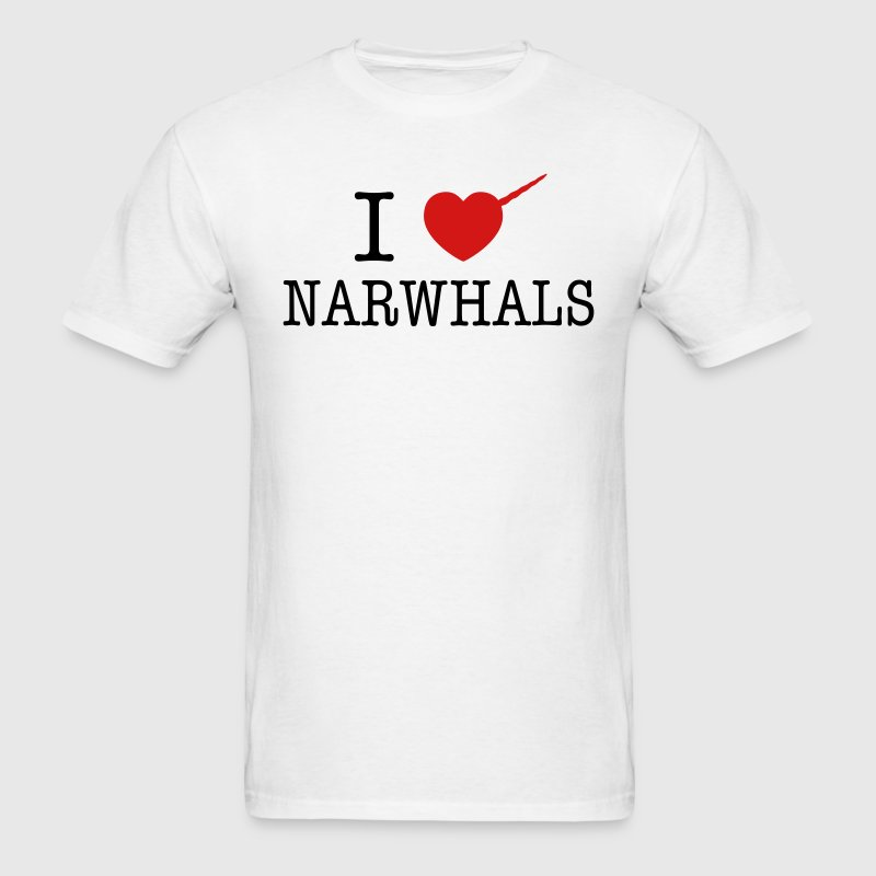 I Heart Narwhals T-Shirts - Men's T-Shirt
