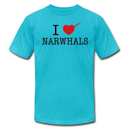 I Heart Narwhals - Men's Fine Jersey T-Shirt