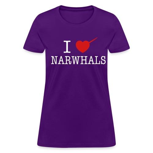 I Heart Narwhals - Women's T-Shirt