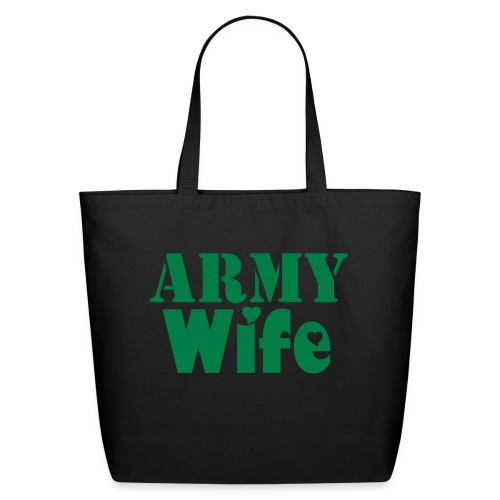 Eco-Friendly Cotton Tote - wife,tote,soldier,purse,canvas,bag,Army